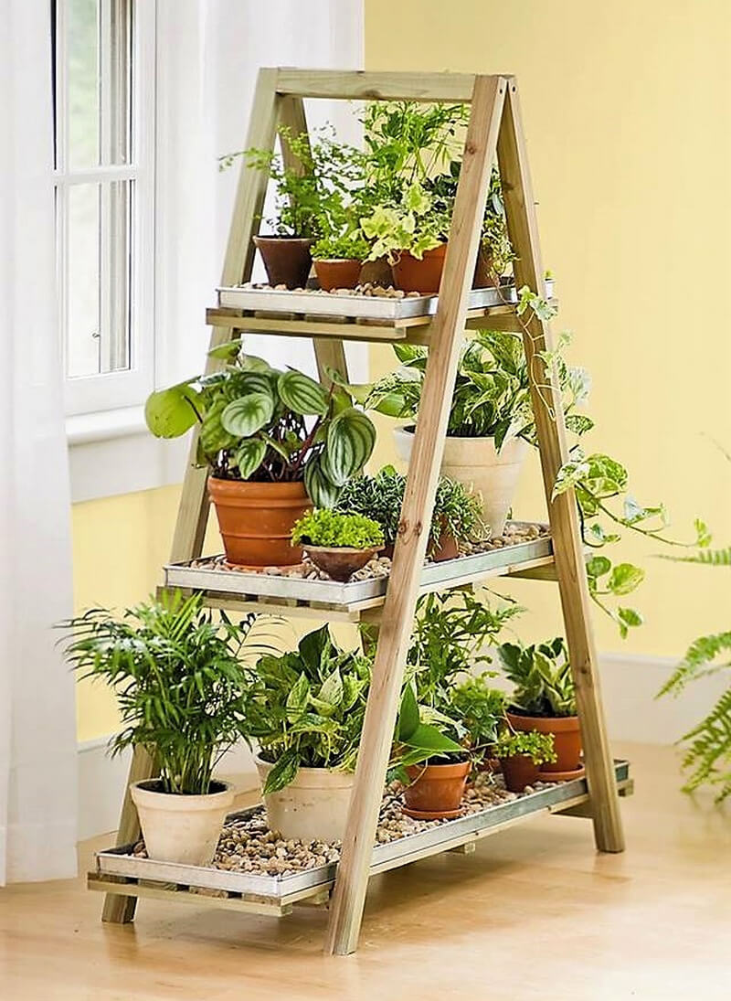 wood pallet planter ladder