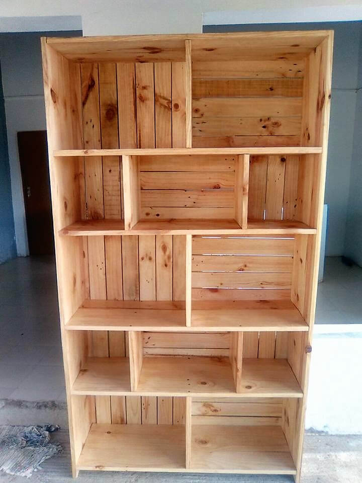Used Wood Storage Cabinets ~ Reclaimed pallets wooden made shelving cabinet wood