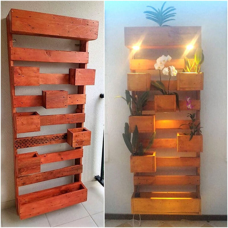 wood pallet wall planter decor art