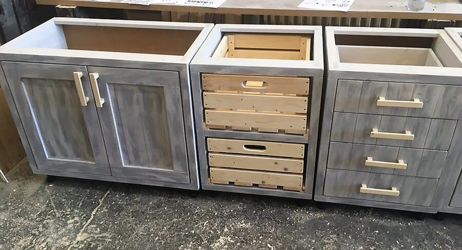 wooden pallet kitchen cabinets 2