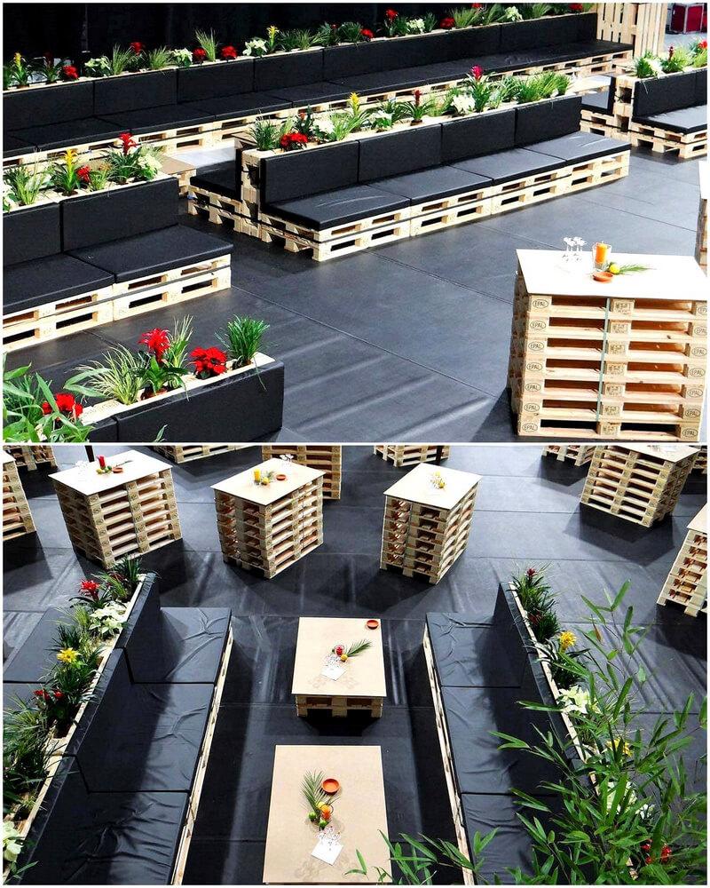 wooden pallet outdoor furniture plan