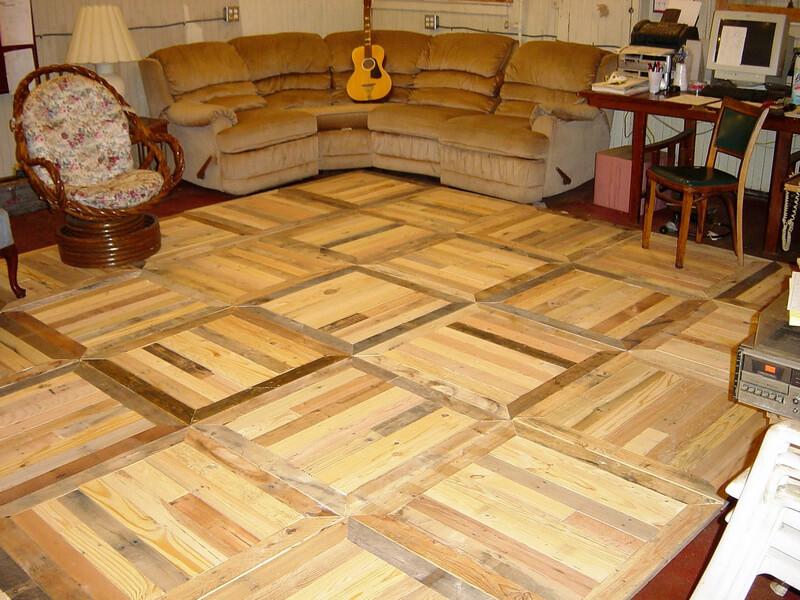 wooden pallet recycled floor
