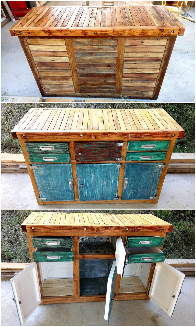wooden pallet rustic entryway table
