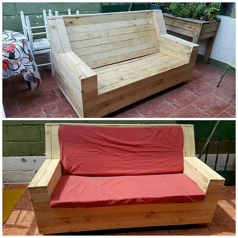 wooden pallets made patio couch
