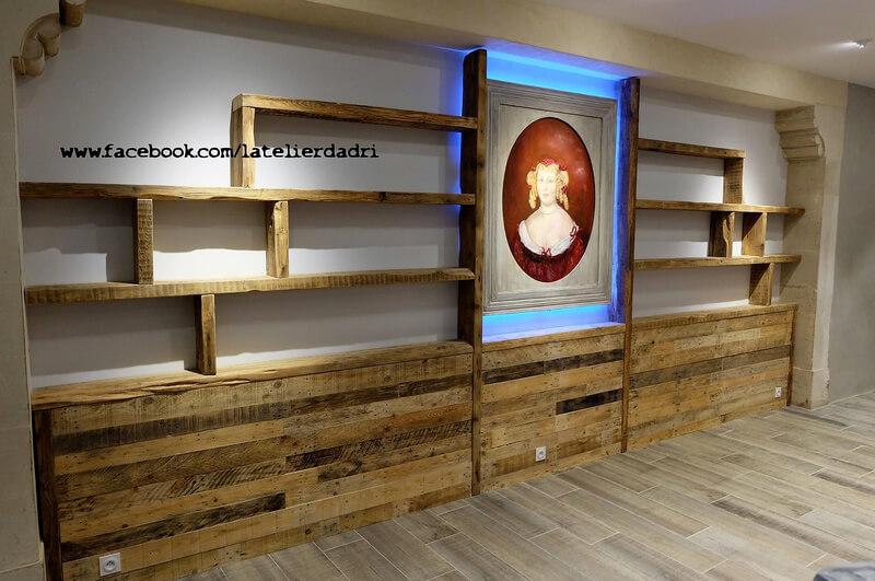 wooden pallets wall art