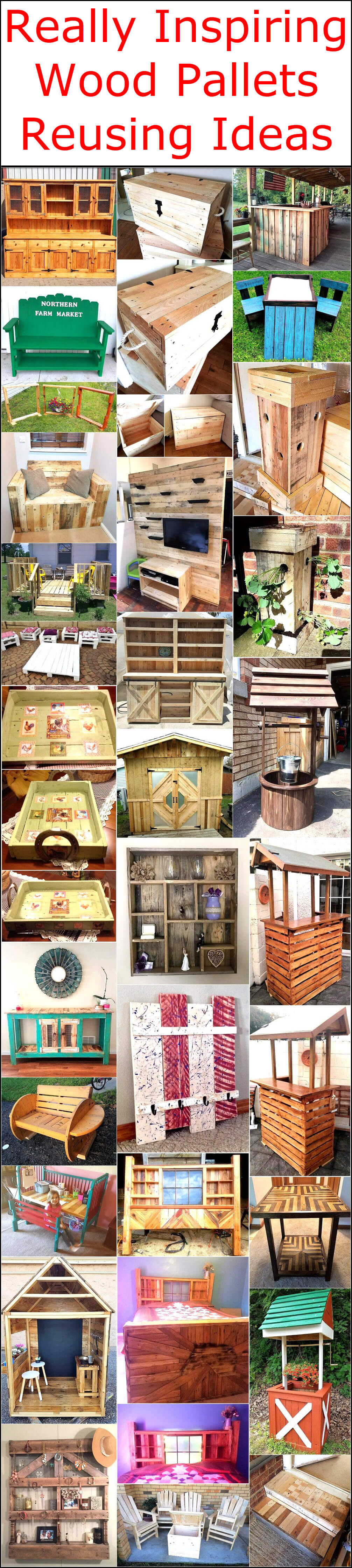 Really Inspiring Wood Pallets Reusing Ideas