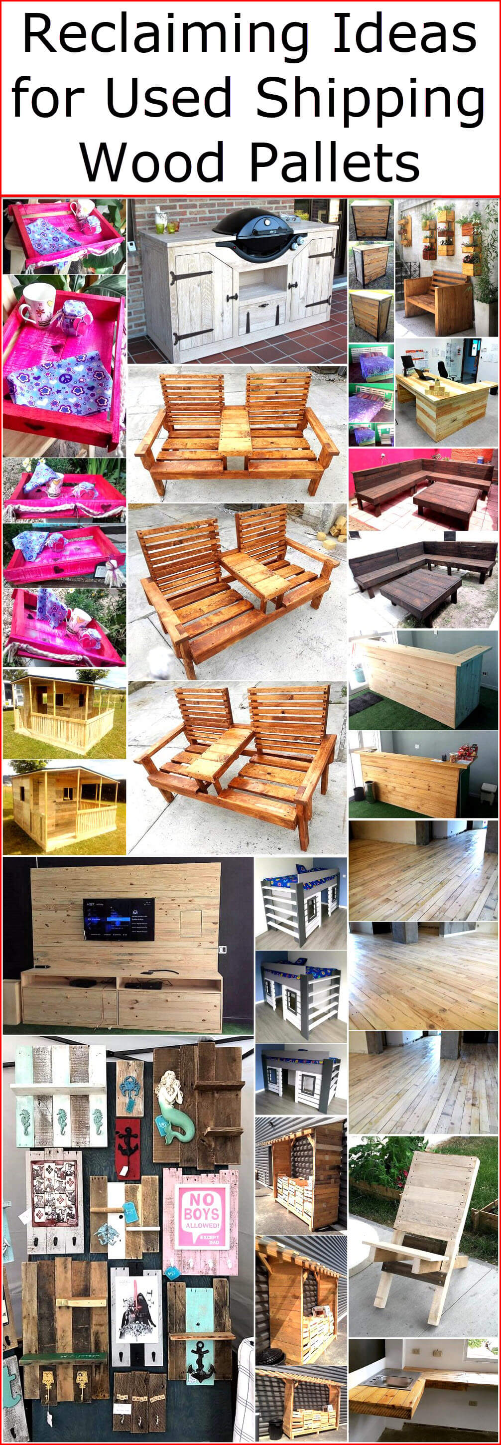 shipping pallet furniture ideas. Reclaiming Ideas For Used Shipping Wood Pallets Pallet Furniture