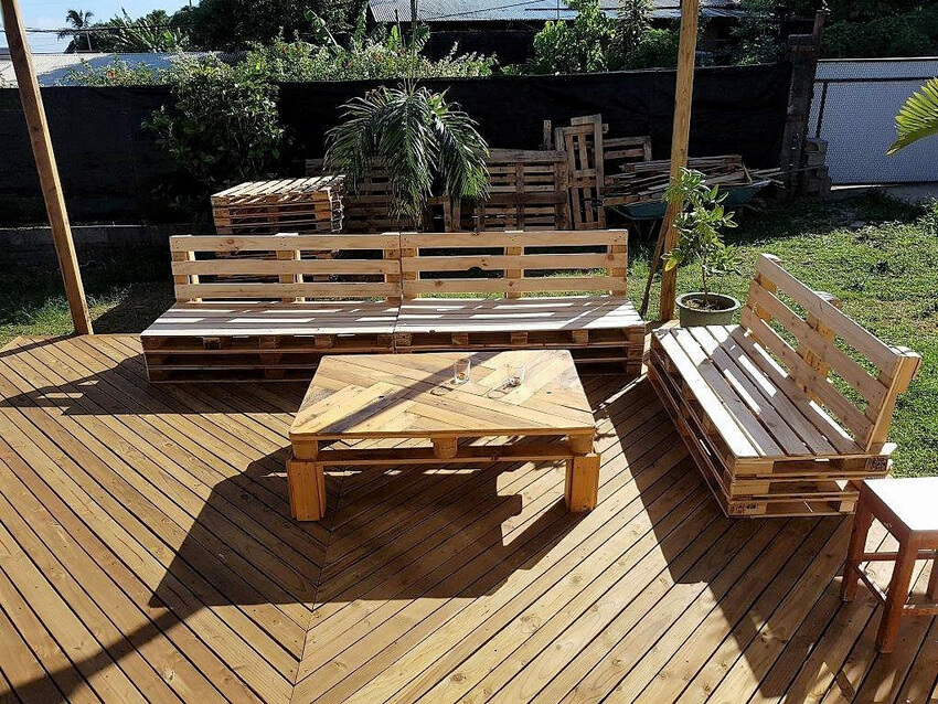 diy pallets garden deck furniture