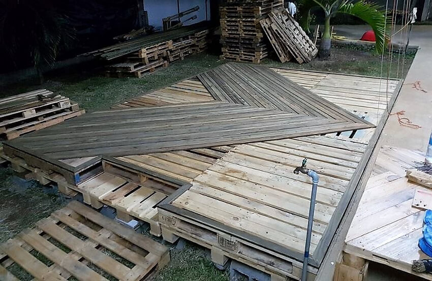 diy pallets wood garden terrace