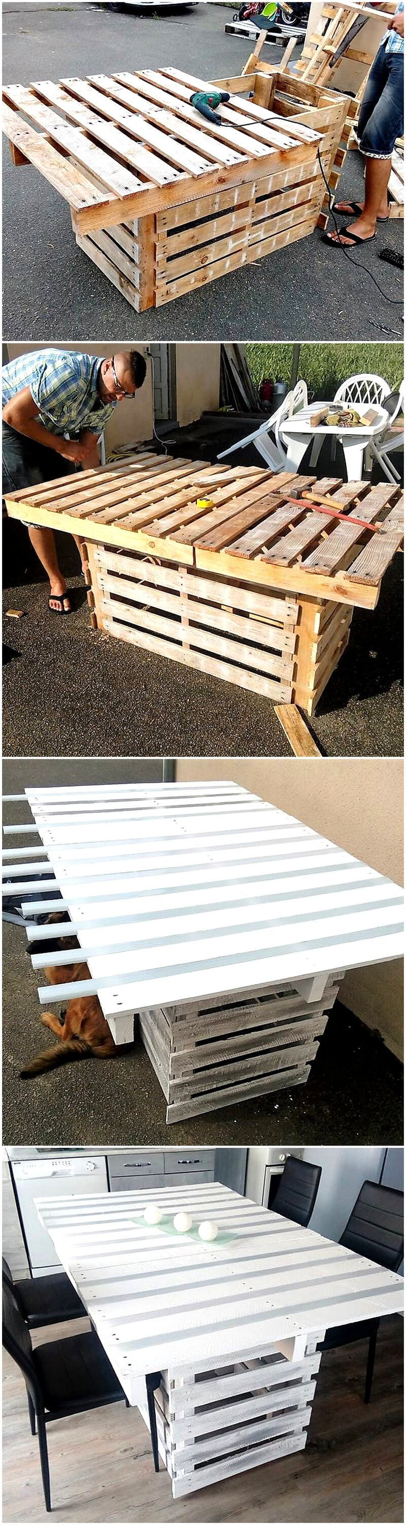 diy pallets wooden table plan
