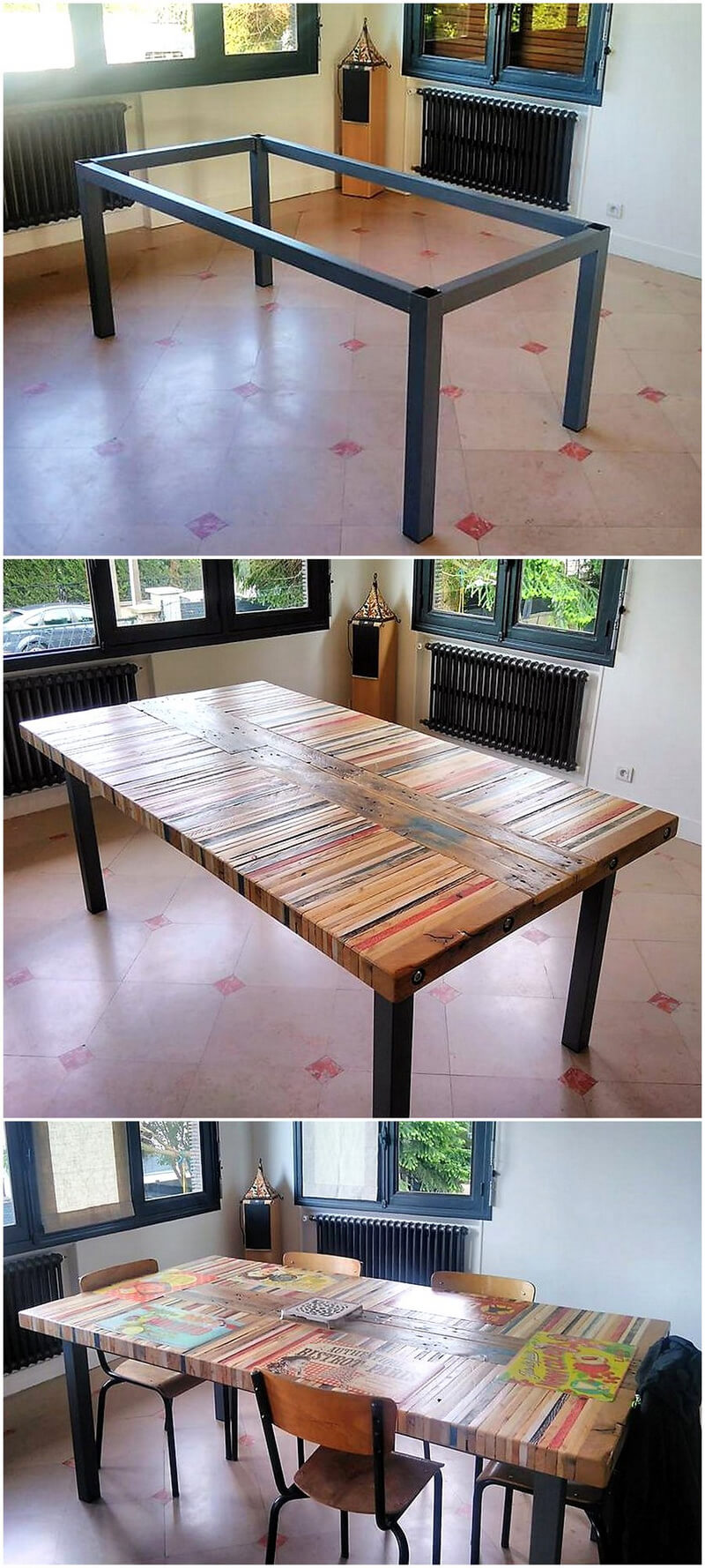diy reclaimed pallets table