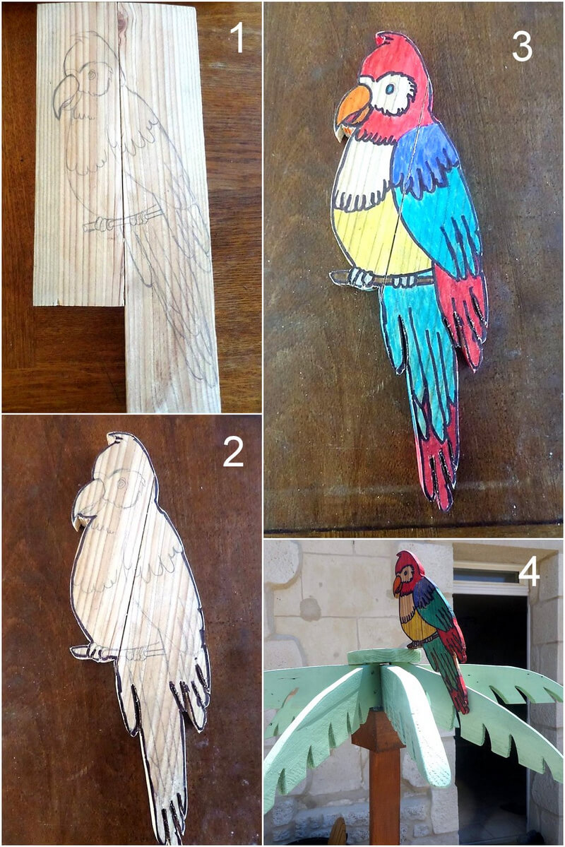 diy wooden pallets bird plan