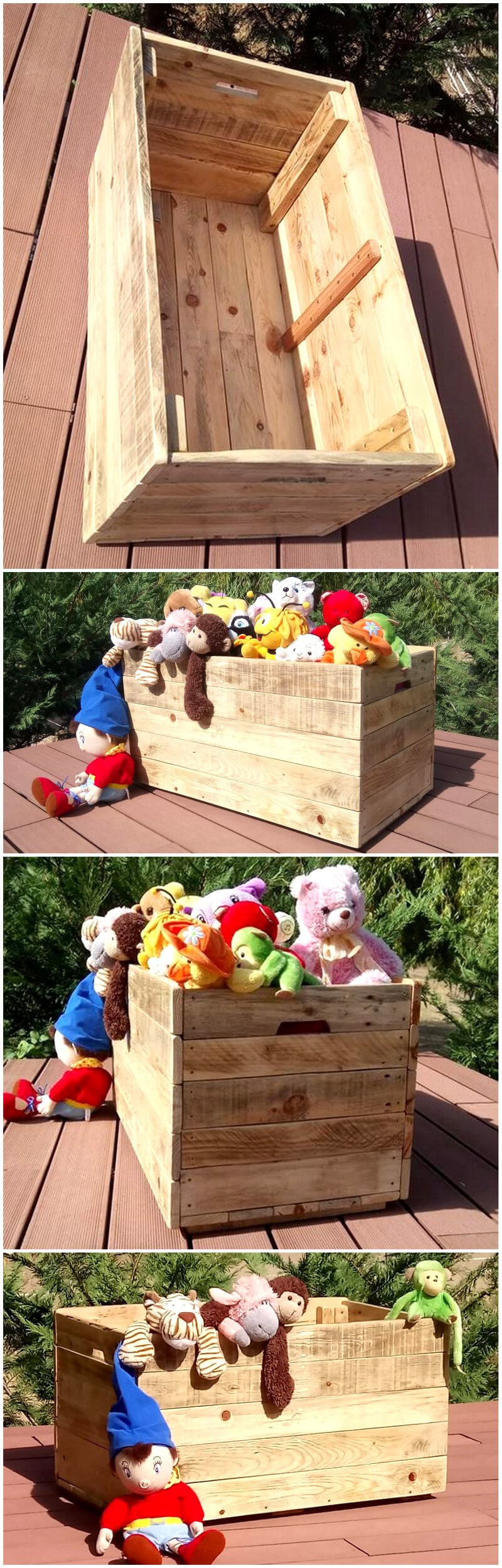 kids toys box out of wood pallets