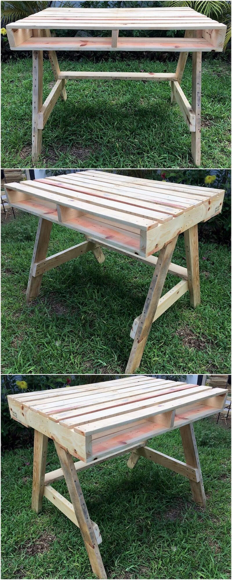 little rustic pallet desk