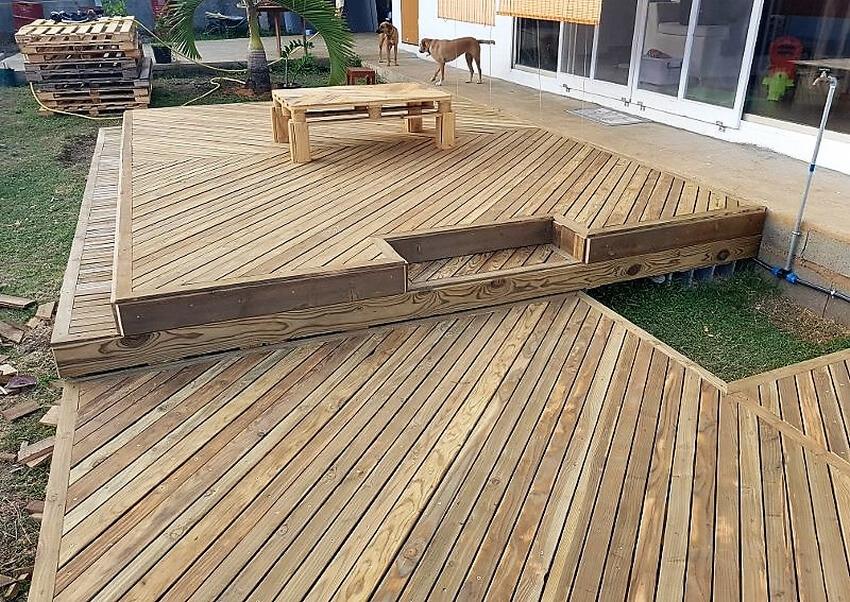 pallet garden deck diy