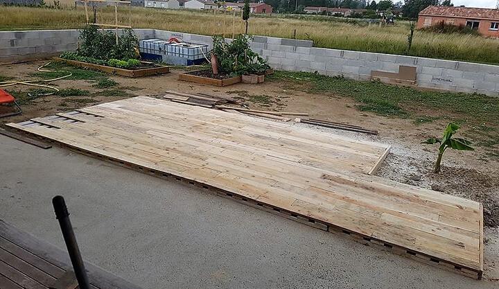 pallet wooden terrace