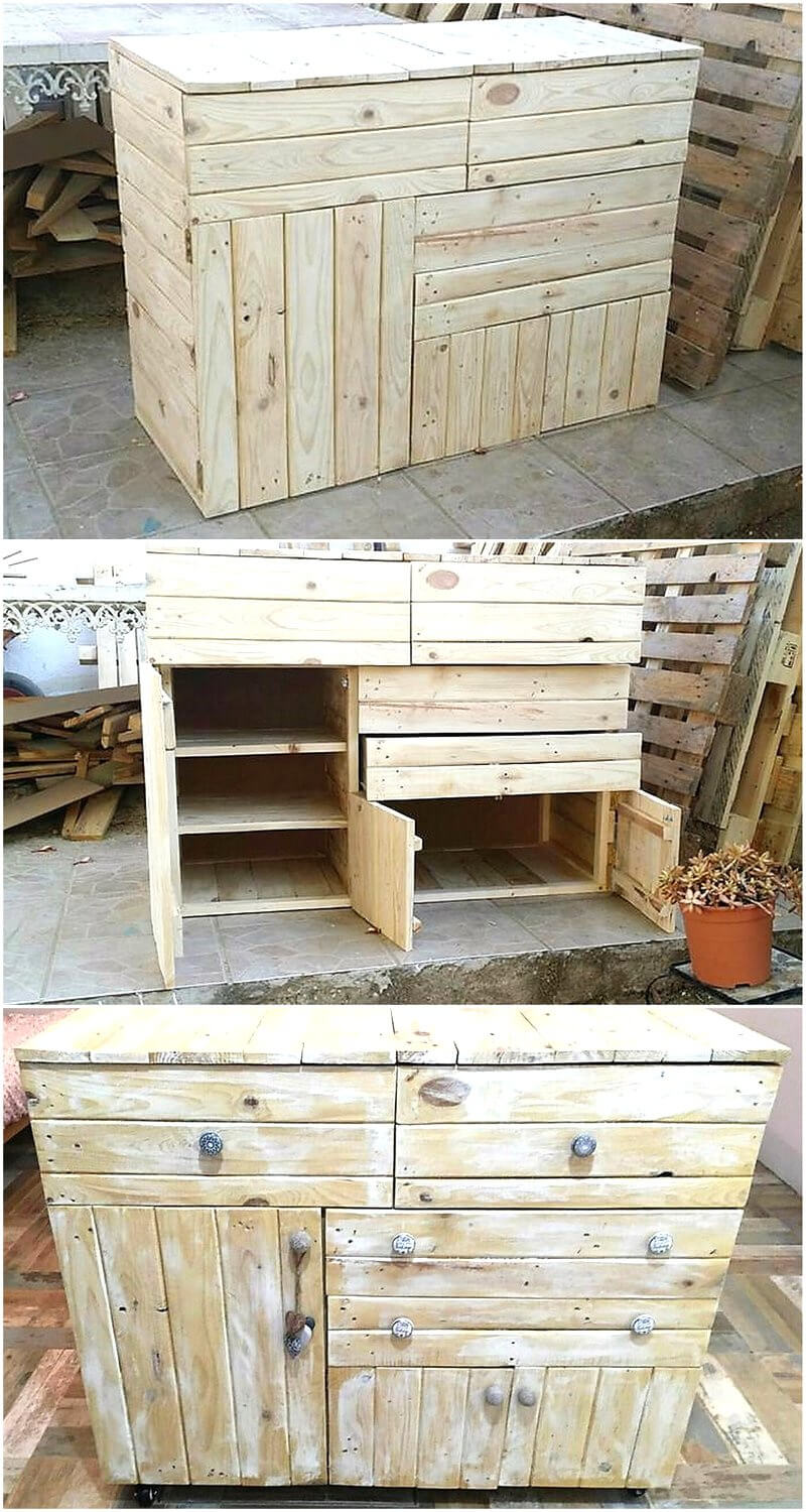 pallets chest of drawers 1