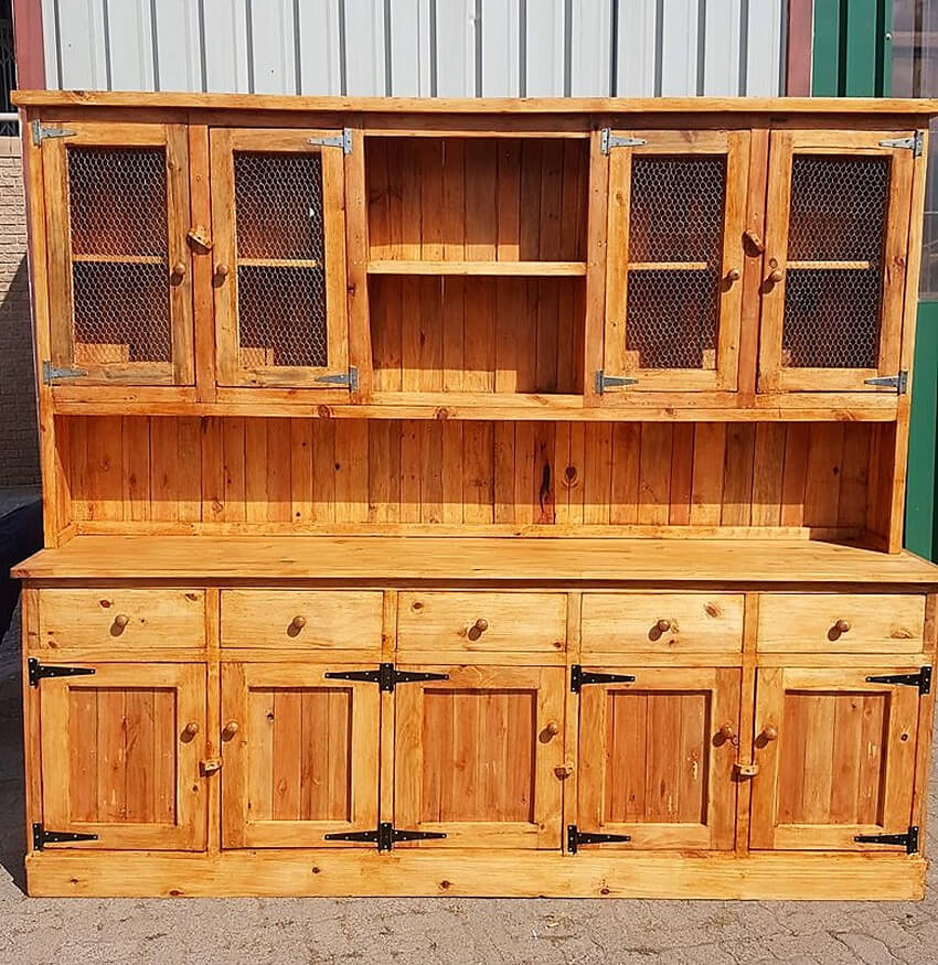 pallets cupboard cabinet
