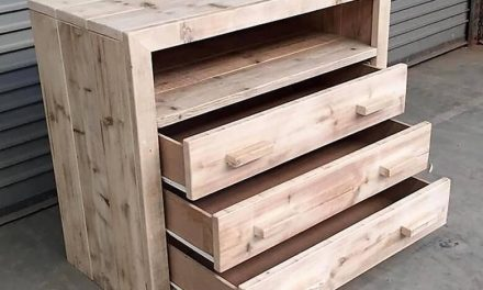 Repurposed Pallets Wood Chest of Drawers
