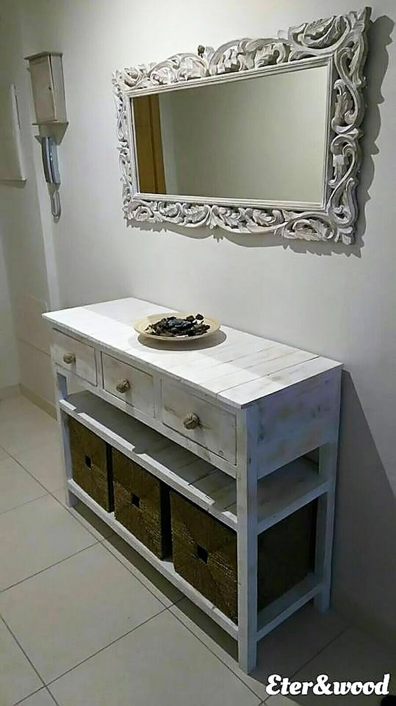 pallets entryway table idea 1