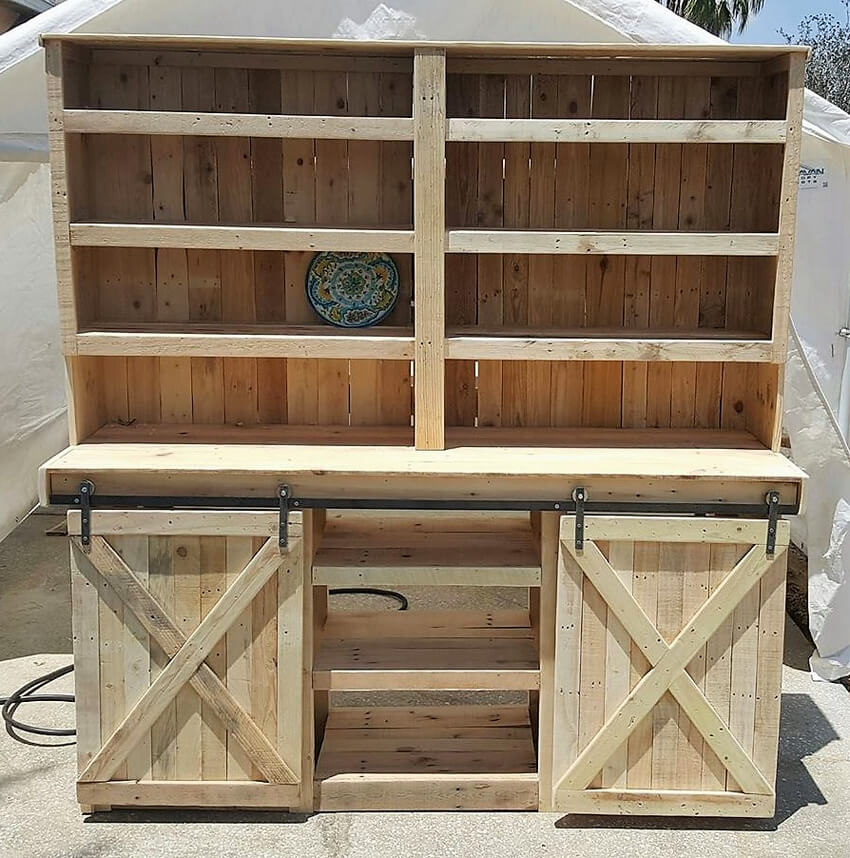 pallets kitchen cabinet idea