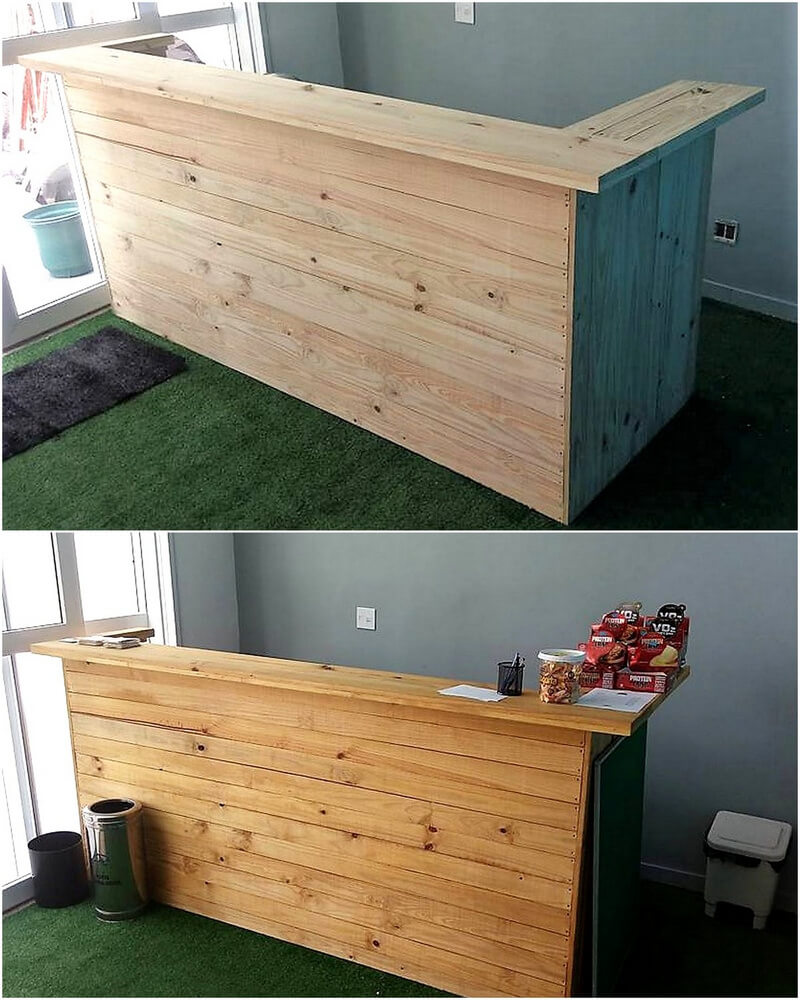 pallets made counter table idea