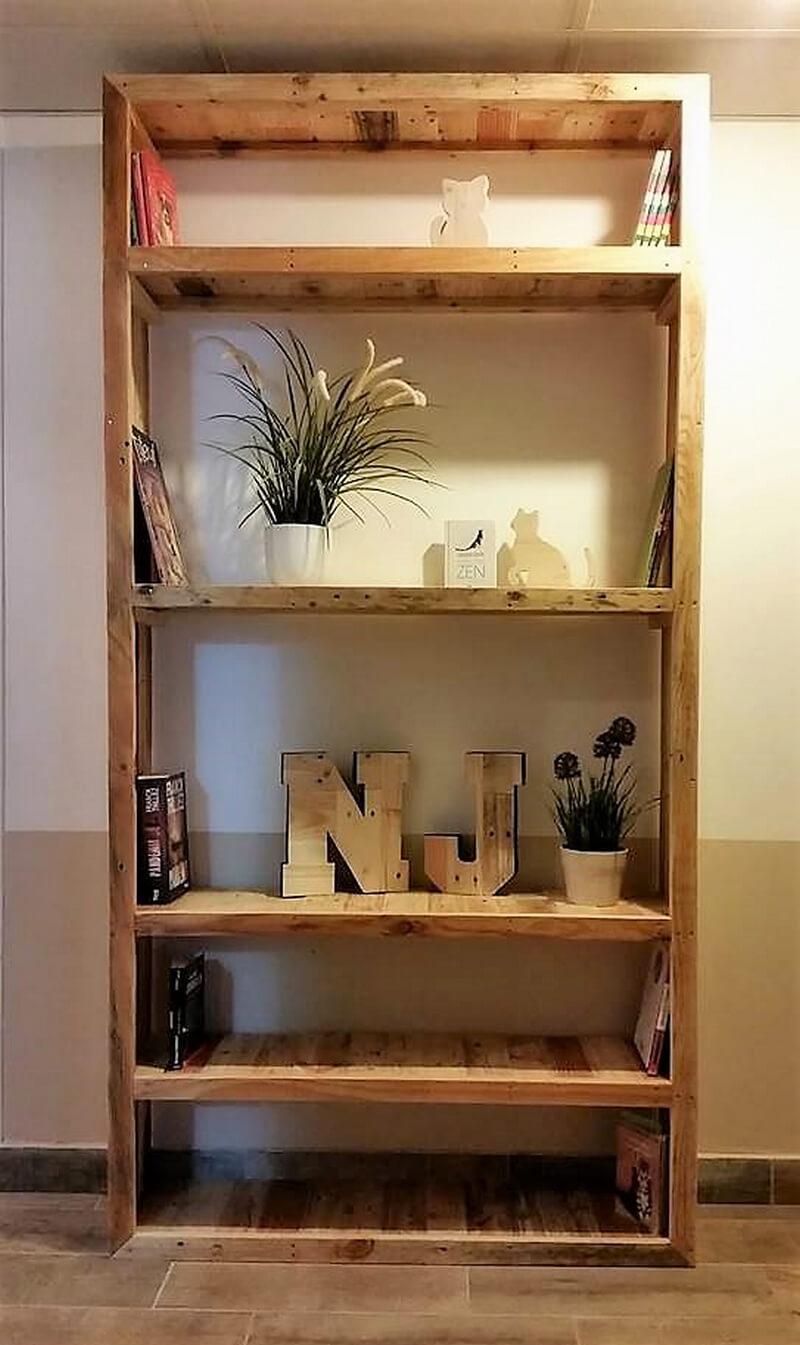 pallets made decor shelving cabinet