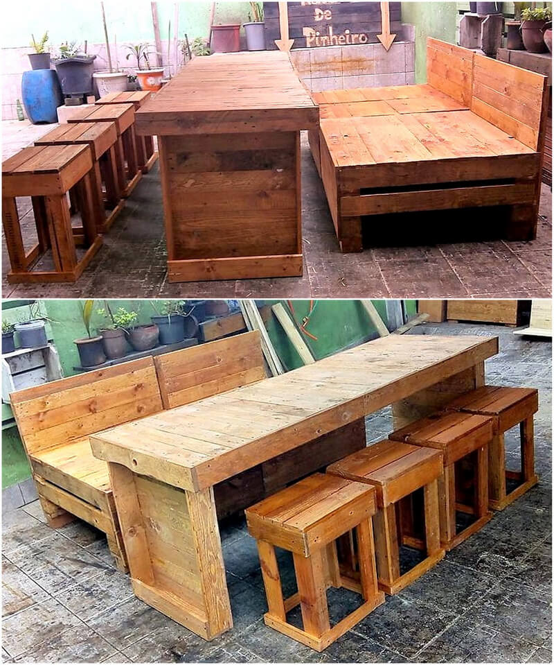 pallets made outdoor furniture