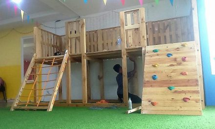 Pallets Wooden Made Kids Playground