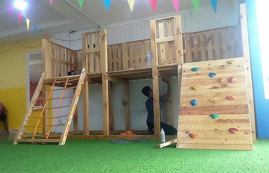 pallets made playground