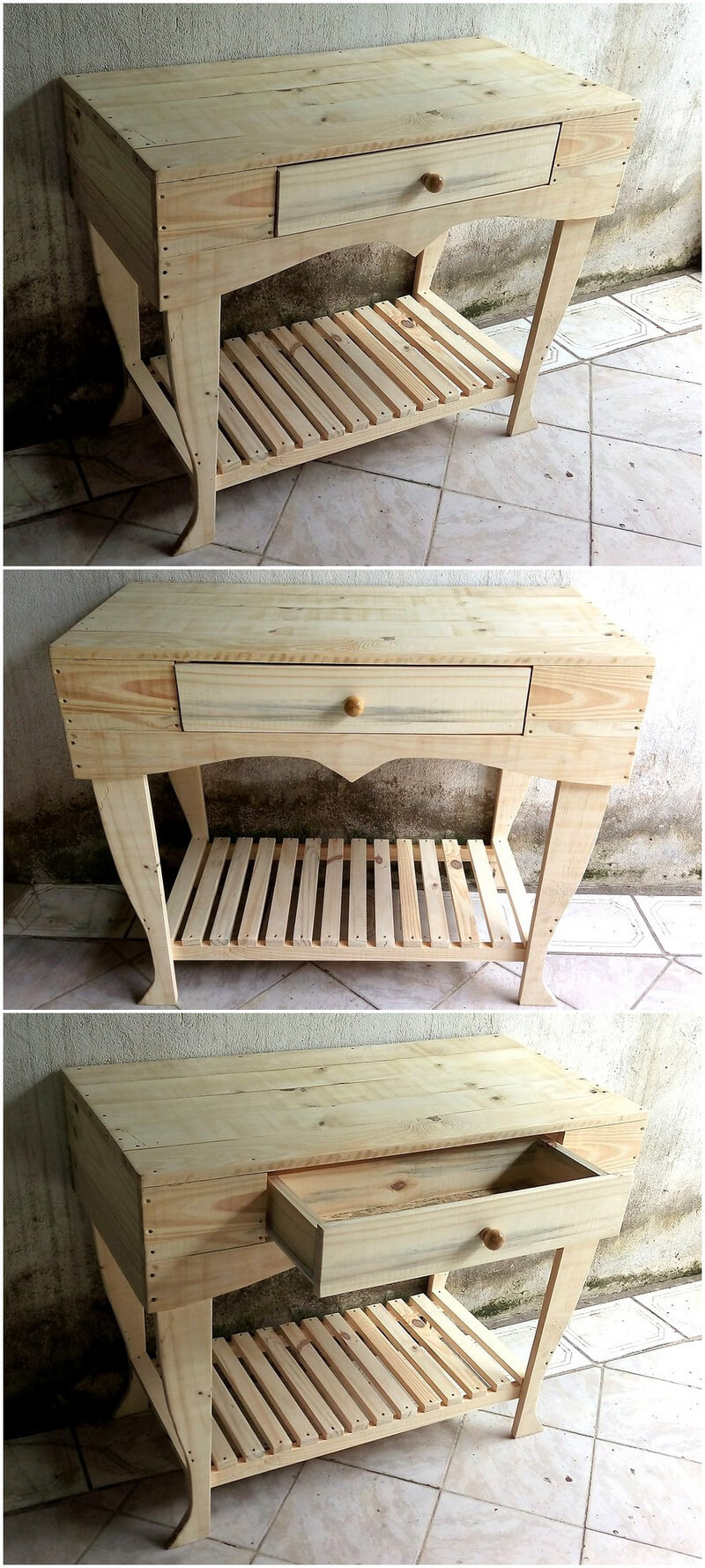 pallets made side table plan