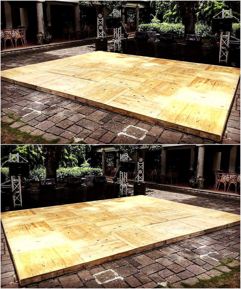 pallets patio deck floor