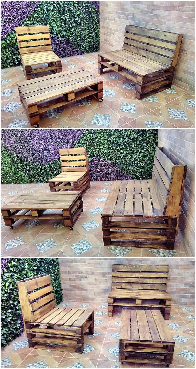 pallets recycled patio furniture