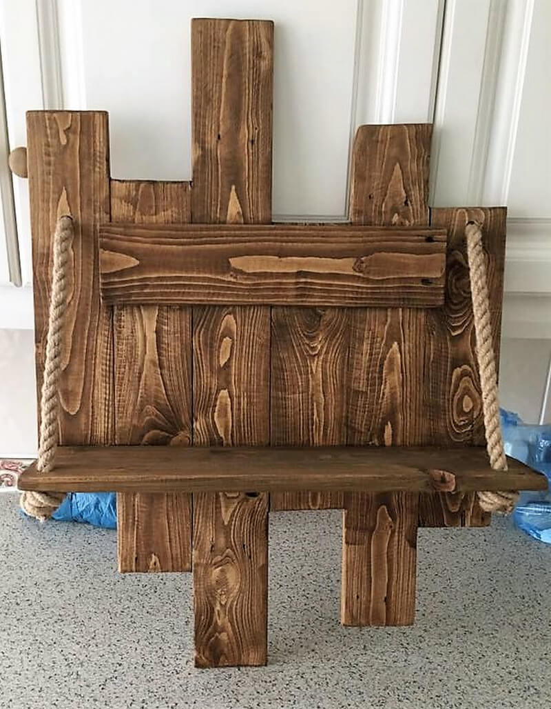 pallets rustic shelf