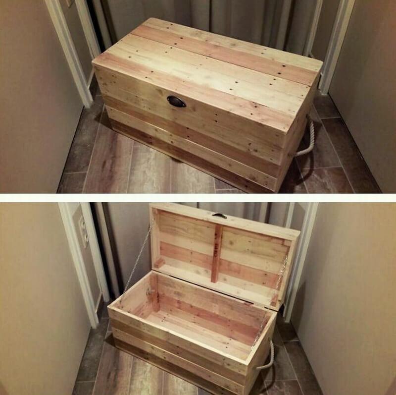 pallets storage chest idea