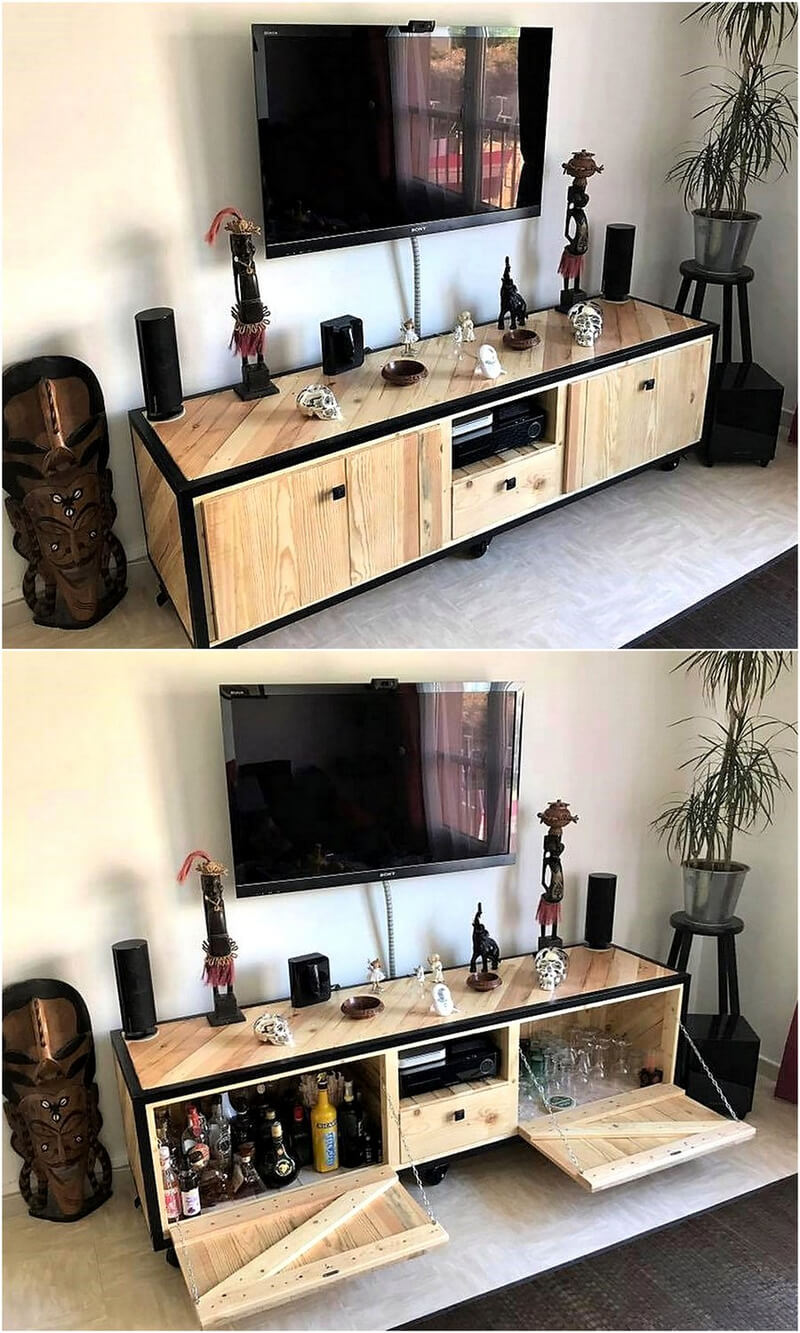 pallets tv stand console