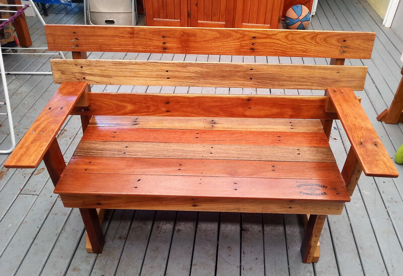 pallets wodoen bench