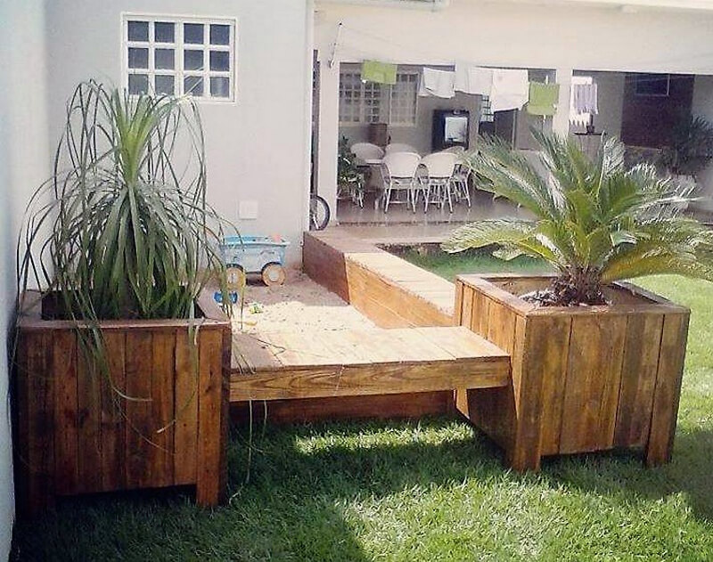 pallets wood garden idea