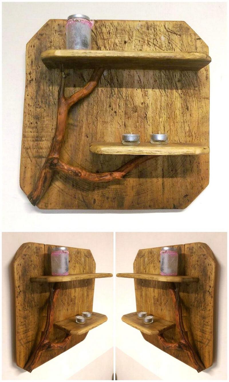 pallets wood rustic decor shelf