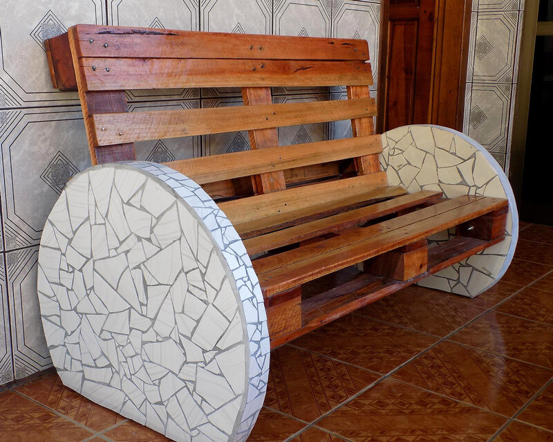 pallets wooden bench idea