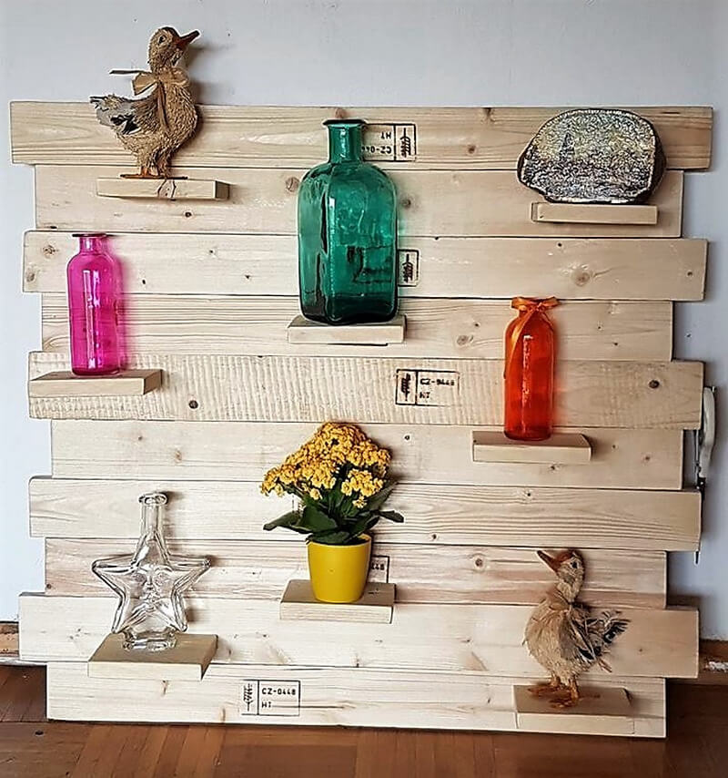 pallets wooden decor shelf art