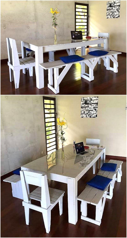 pallets wooden dining set