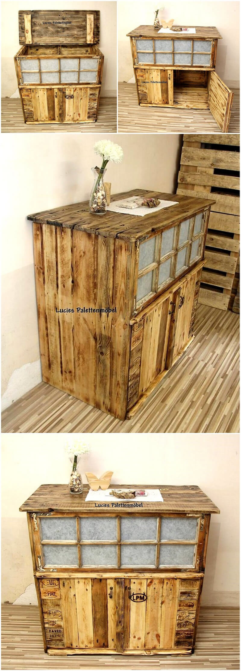 recycled pallets entrance way table plan