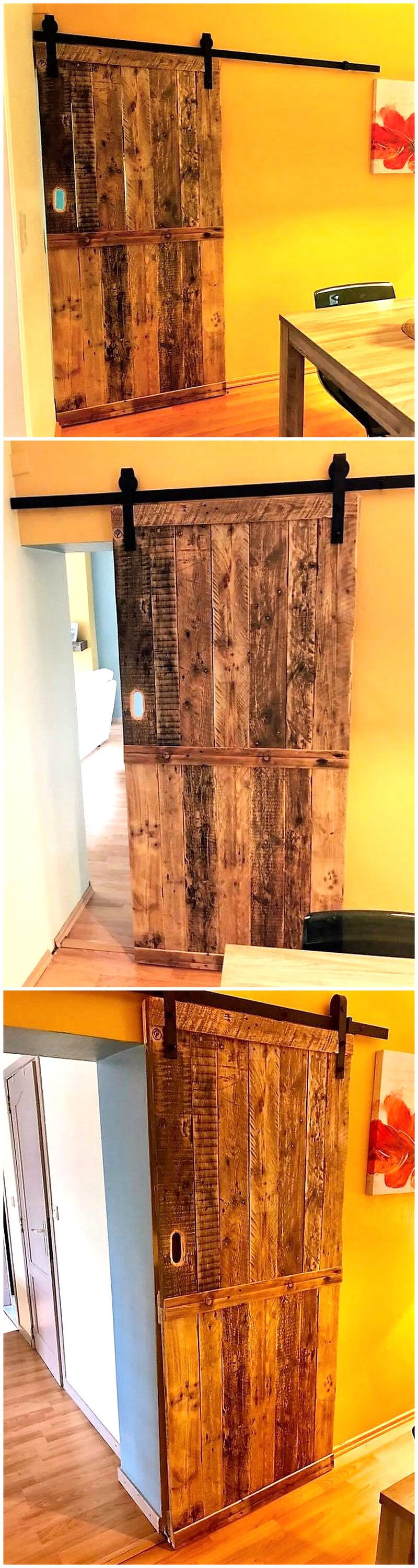 recycled pallets wooden door