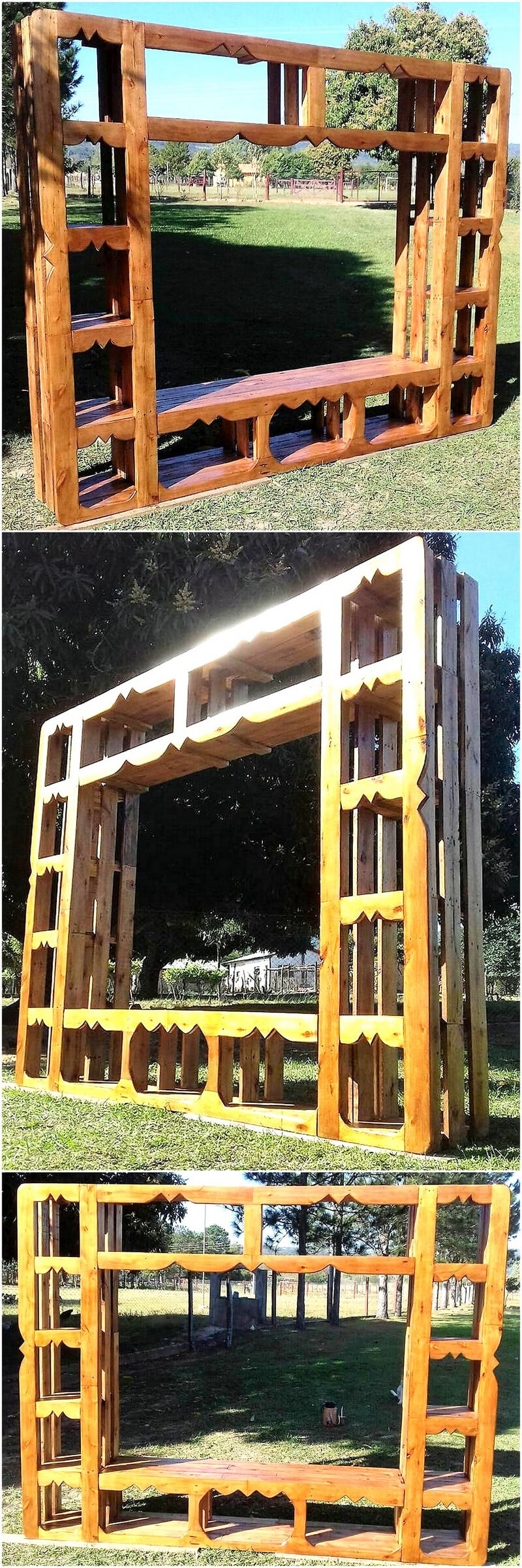 recycled wooden pallets closet