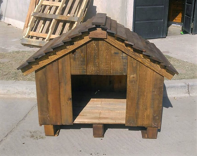 repurposed pallets diy dog house