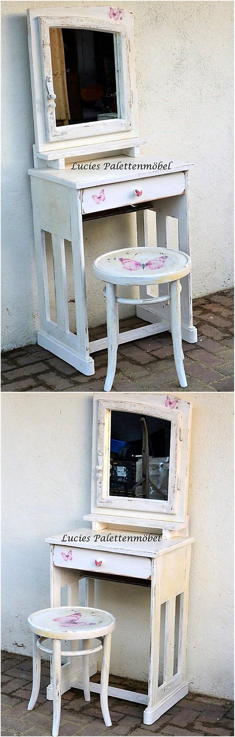 repurposed pallets vanity plan