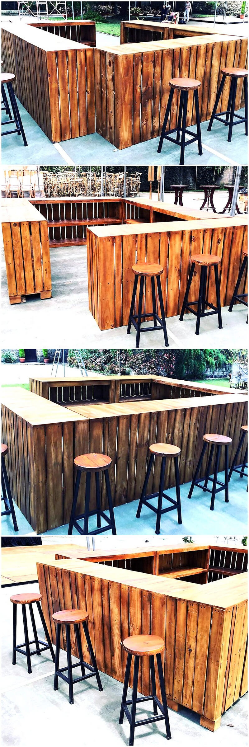 repurposed wooden pallets bar plan