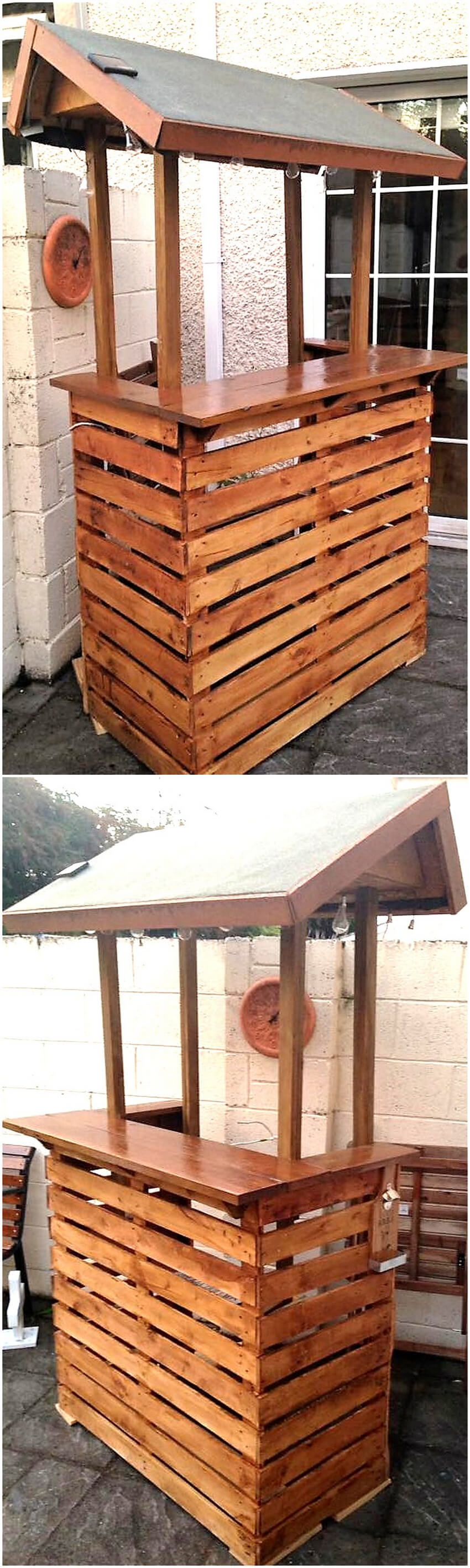 reused pallets bar