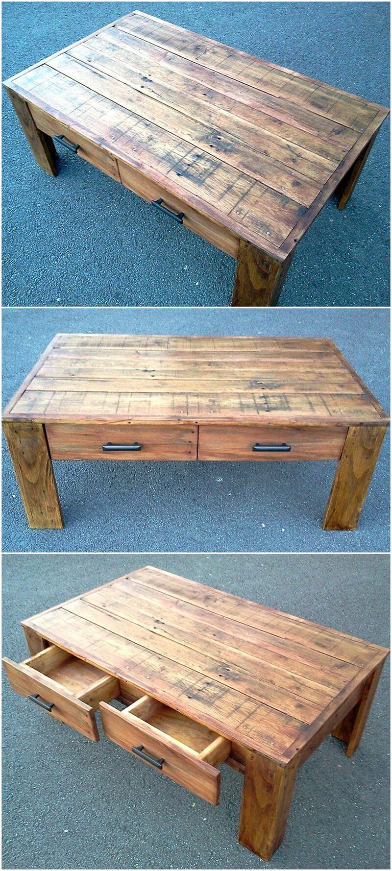 reused pallets table idea